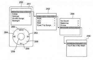 Image taken from iPod interface patent.